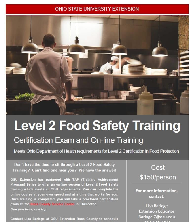 Level 2 Food Safety Training