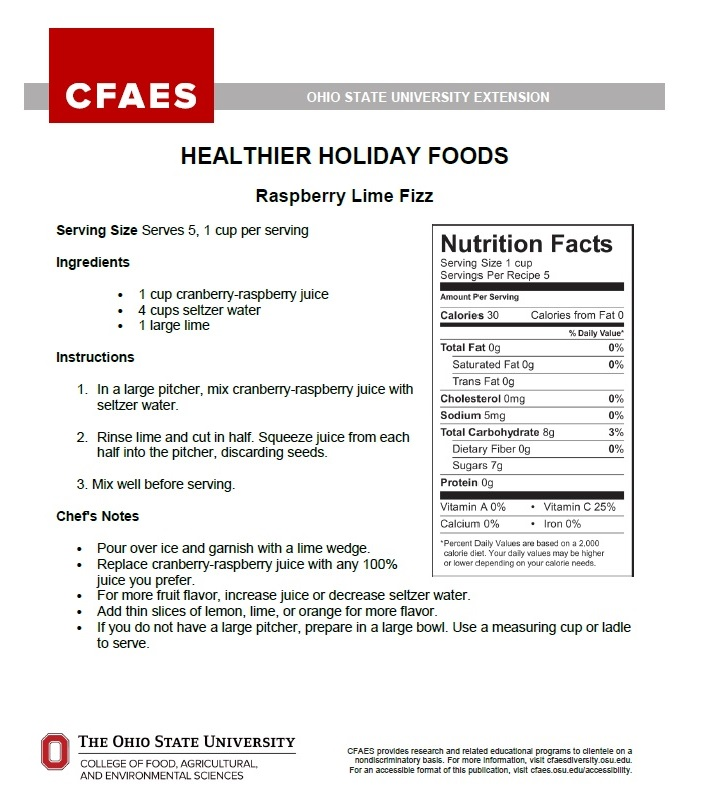 Healthier Holiday Foods pg. 1